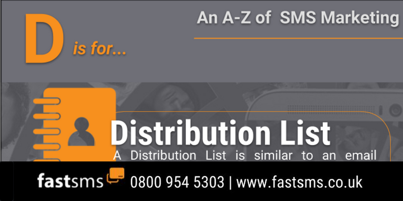 An A-Z of SMS Marketing: D is for Distribution List | Infographic