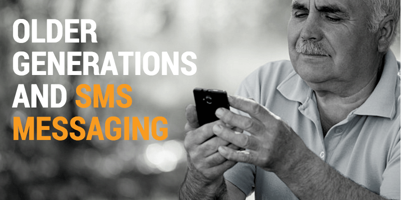 sms messaging for older generation