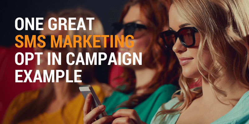 One Great SMS Marketing Opt In Campaign Example