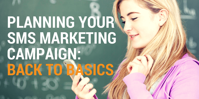 sms marketing back to basics