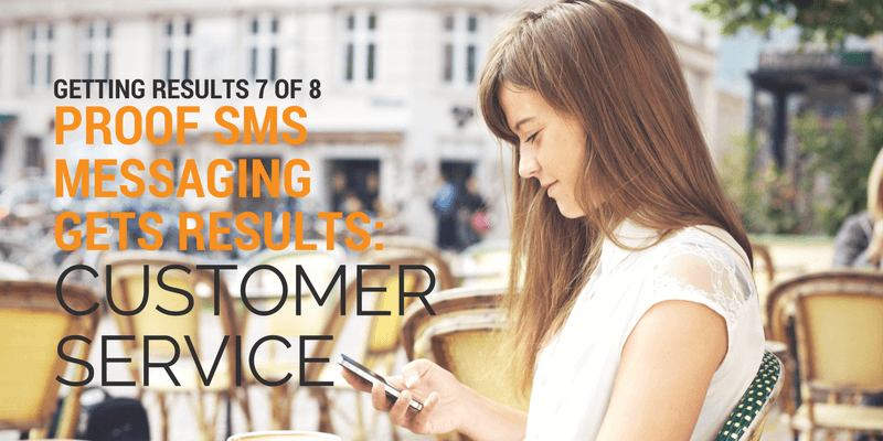 girl getting customer service via sms messaging