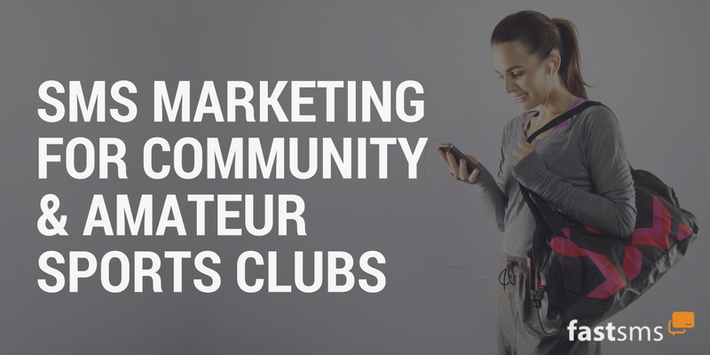 SMS Marketing for Community & Amateur Sports Clubs