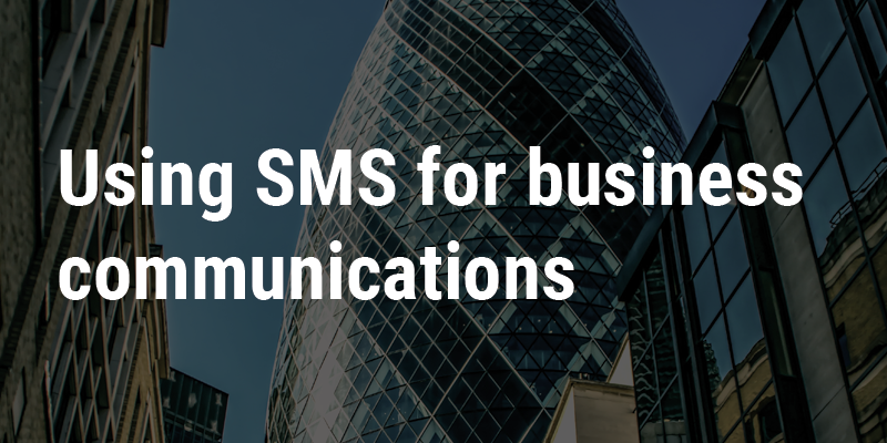 SMS business communications