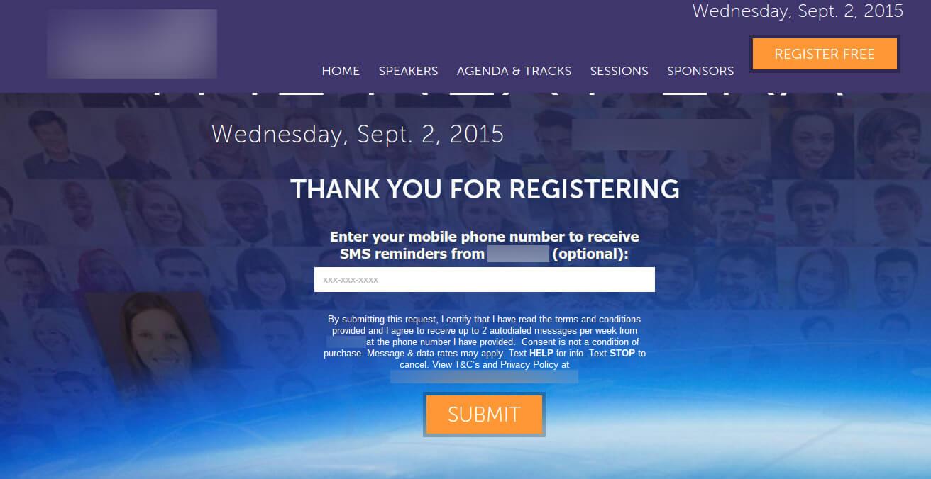 SMS reminder webinar