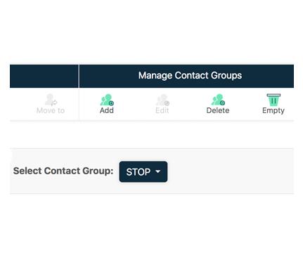 Bulk SMS contact groups