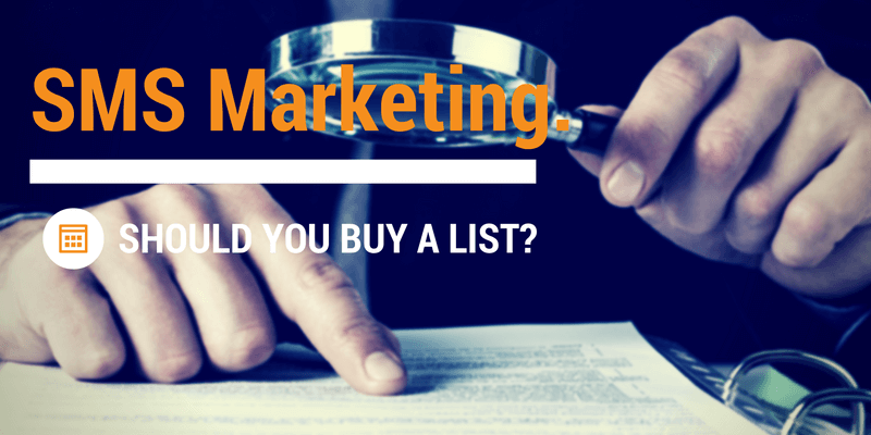 sms marketing lists