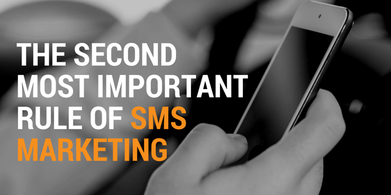sms marketing - keep it simple