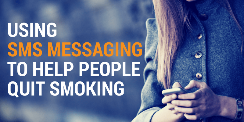 Using SMS Messaging to Help People Quit Smoking