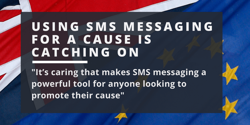 sms messaging for a cause