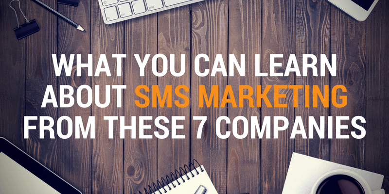 sms marketing lessons