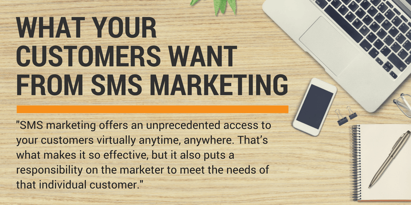 sms marketing customers