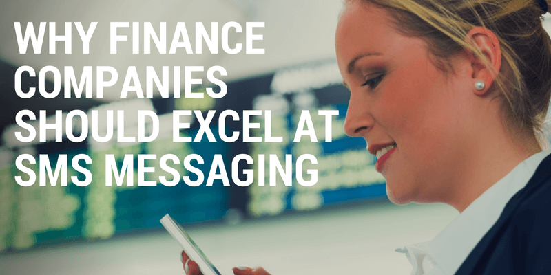 sms messaging for finance companies