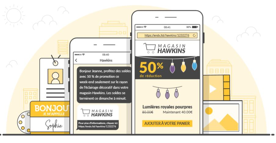 sms landing page conseils