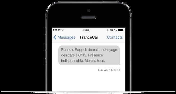 SMS pour communiquer avec les équipes nomades