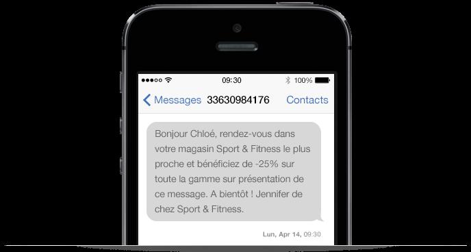 Un SMS de communication avec des touristes