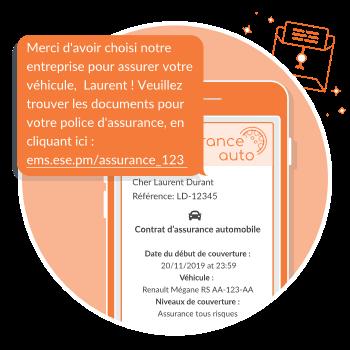 lettre digitale pour assurance