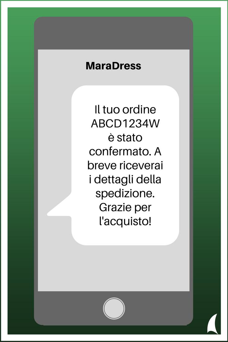 esempio 2 SMS transazionali per il business