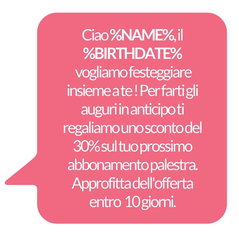 sms di compleanno ai clienti - sconto