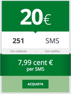 Acquista il tuo Pacchetto SMS e Email