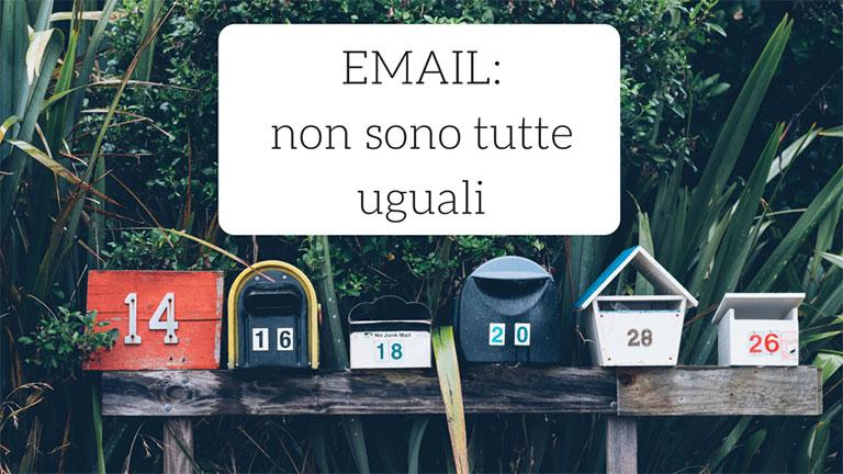 tipi di email perché non sono tutte uguali