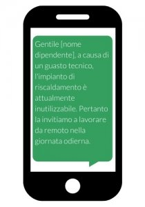 SMS alert ai dipendenti