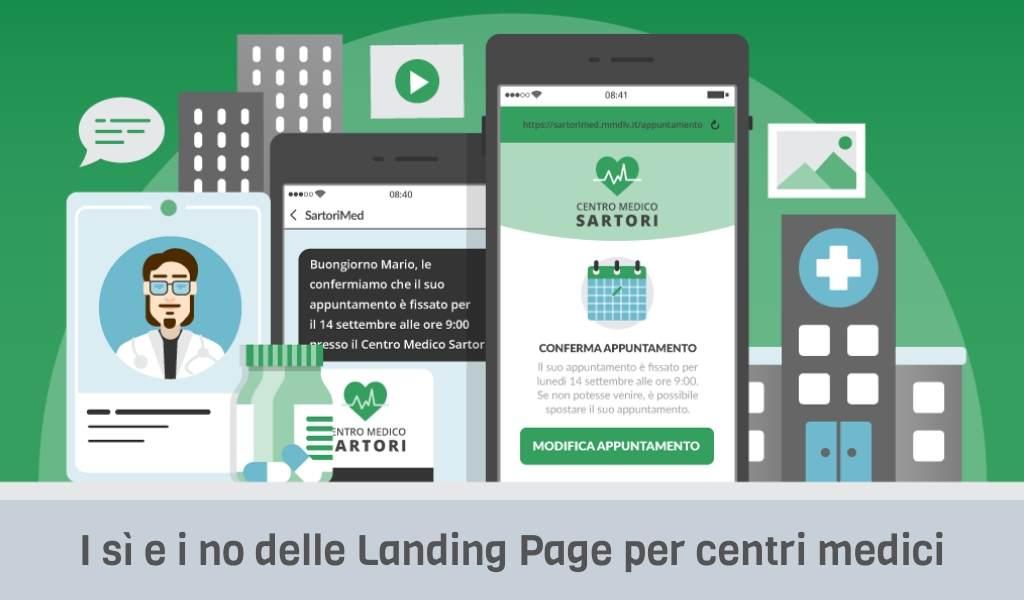 I sì e i no delle Landing Page per centri medici