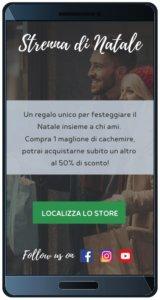 SMS marketing natalizio landing page