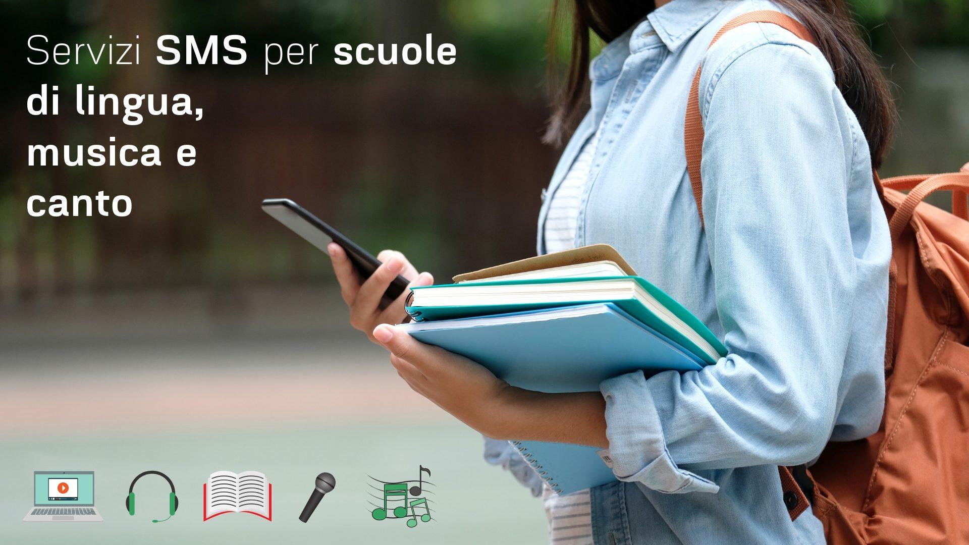 sms per scuole di lingua