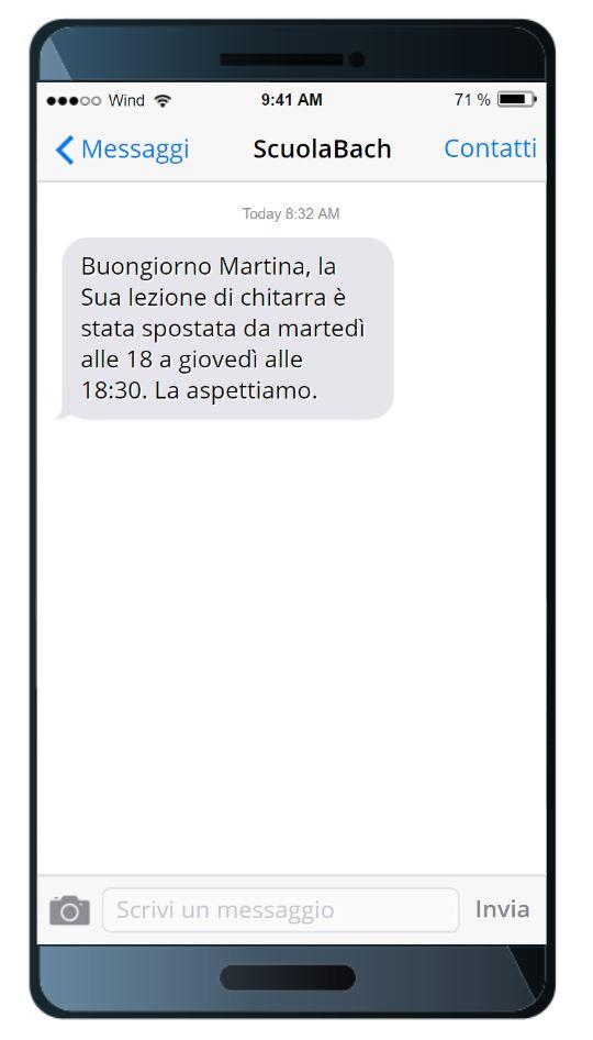 SMS per scuole di lingua sms transazionale