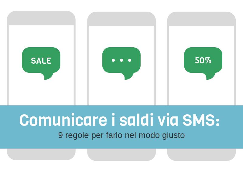 Saldi via SMS - Comunicare i saldi nel modo giusto
