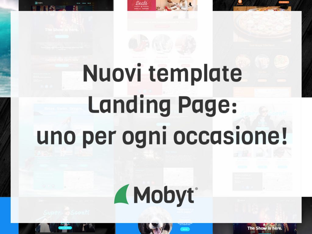 Nuovi template landing Page Mobyt