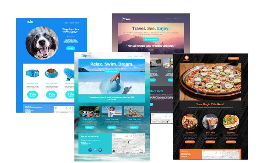 Template Landing Page Varii
