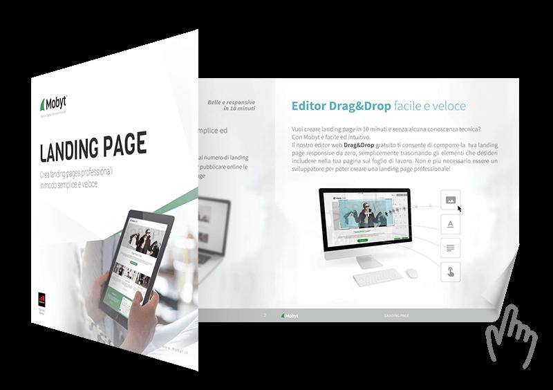 brochure servizio Landing Page