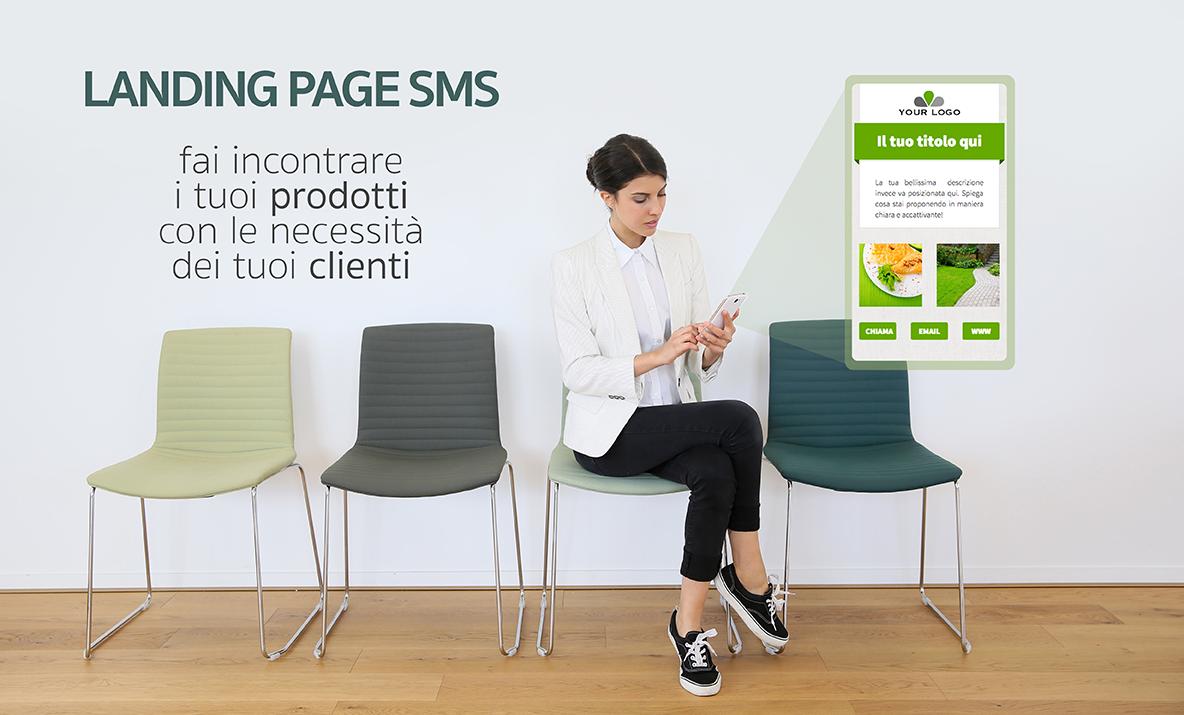 landing page via sms