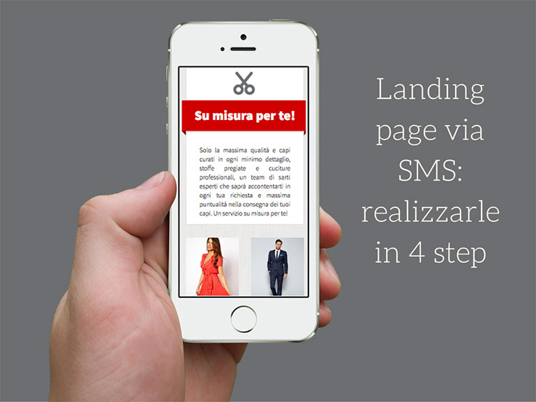 Landing page via SMS realizzarle in 4 step