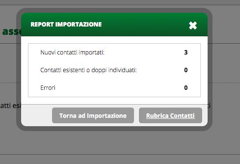 report importazione