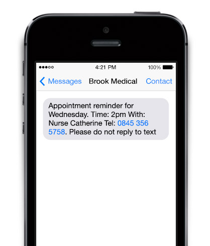 An example of a business SMS message