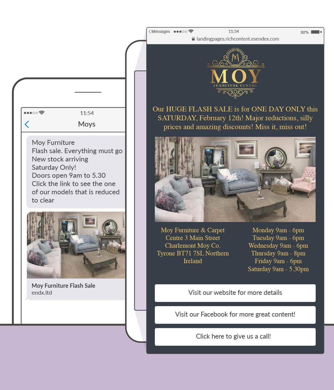Moy Furniture Landing Page