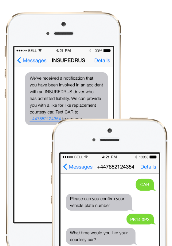 An example of an SMS chat