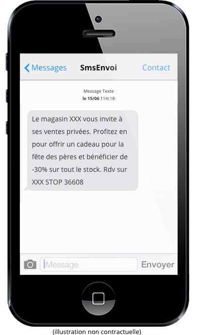 Campagne SMS Fetes des peres vente privée