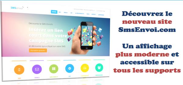 Nouveau Site SmsEnvoi.com