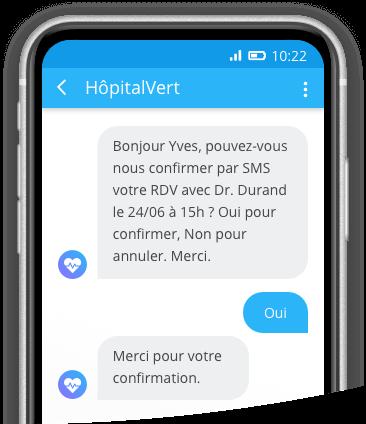 Image réponse SMS mobile
