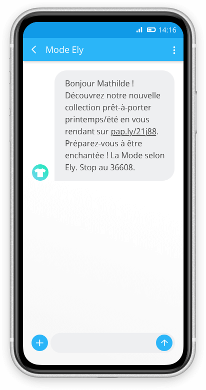 Exemple SMS enrichi