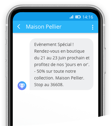 exemple sms mobile