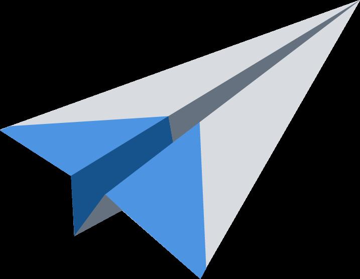 logo avión papel smspubli en color