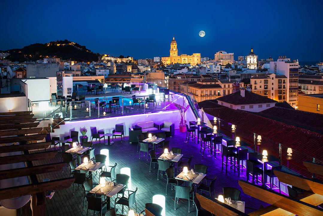 Vistas de Málaga desde una terraza