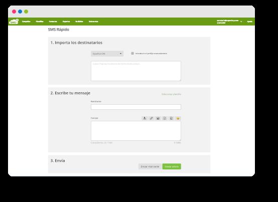 Plataforma para enviar SMS masivos online