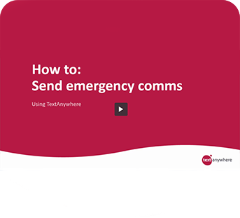 How to video: Send emergency comms