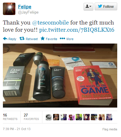 Tesco Mobile resolved tweet