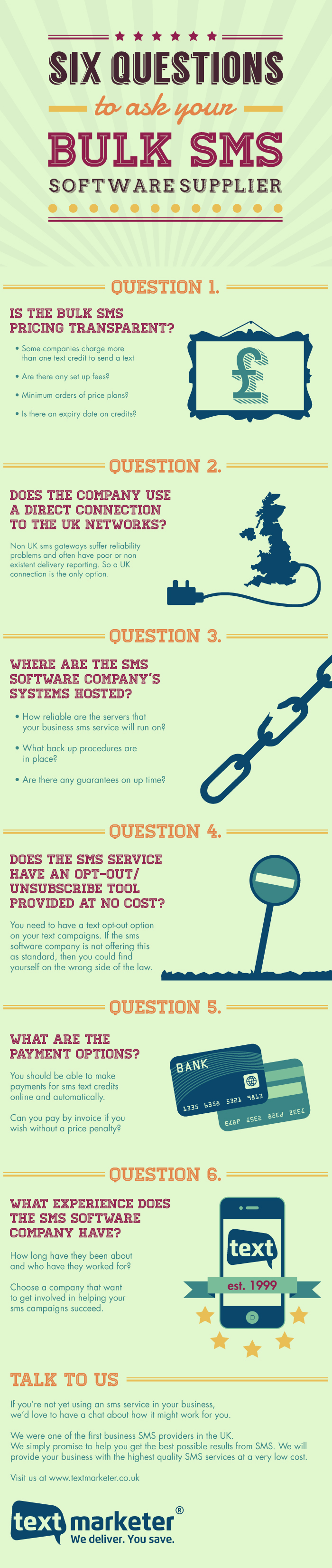 6 questions to ask your SMS provider - Infographic